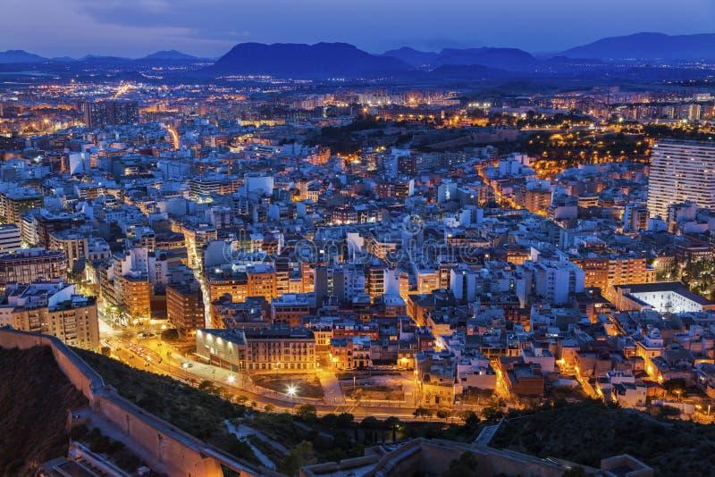Panorama de Alicante foto de archivo
