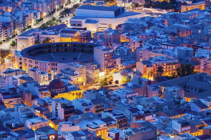 Panorama de Alicante imagen de archivo