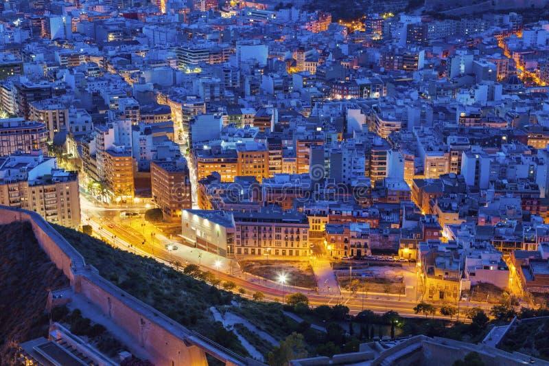 Panorama de Alicante foto de archivo libre de regalías