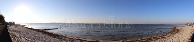 Panorama de alta resolución hermoso del paisaje en alguna parte en Alemania septentrional fotos de archivo libres de regalías