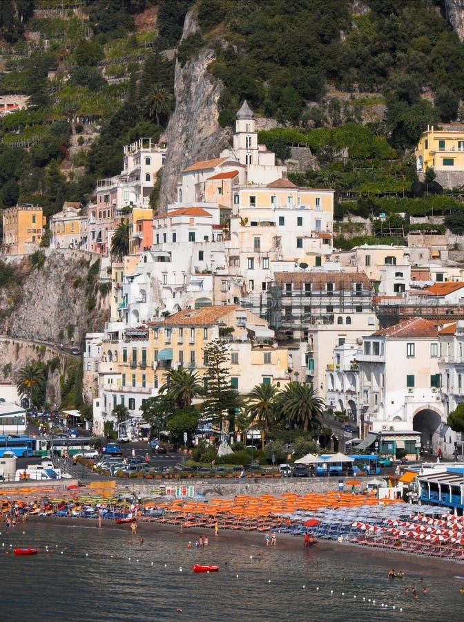 Panorama de Amalfi da vila imagens de stock royalty free