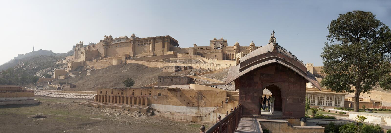Panorama de Amber Fort imagens de stock royalty free