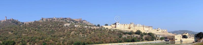 Panorama de Amber Fort fotos de stock royalty free