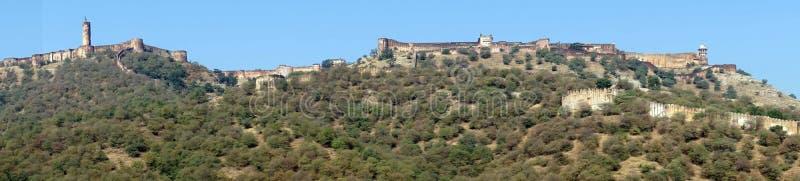 Panorama de Amber Fort fotografia de stock royalty free