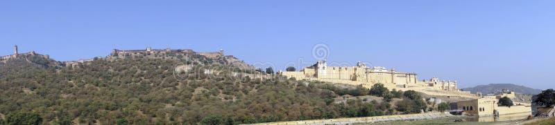 Panorama de Amber Fort imagem de stock