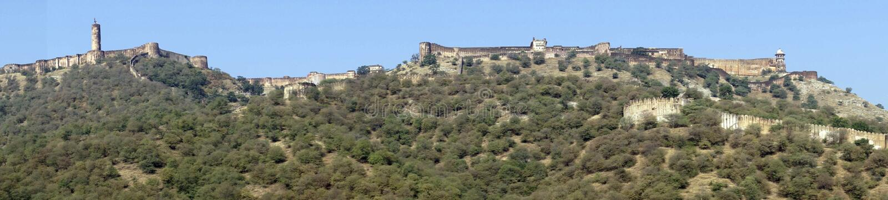 Panorama de Amber Fort fotografia de stock