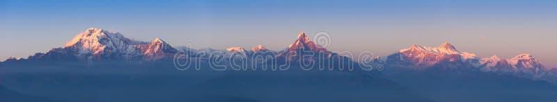 Panorama de Annapurna imagem de stock royalty free