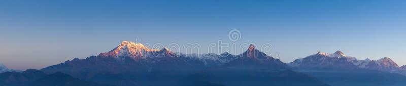 Panorama de Annapurna fotos de stock