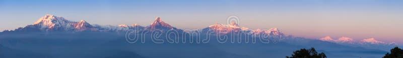Panorama de Annapurna foto de stock royalty free