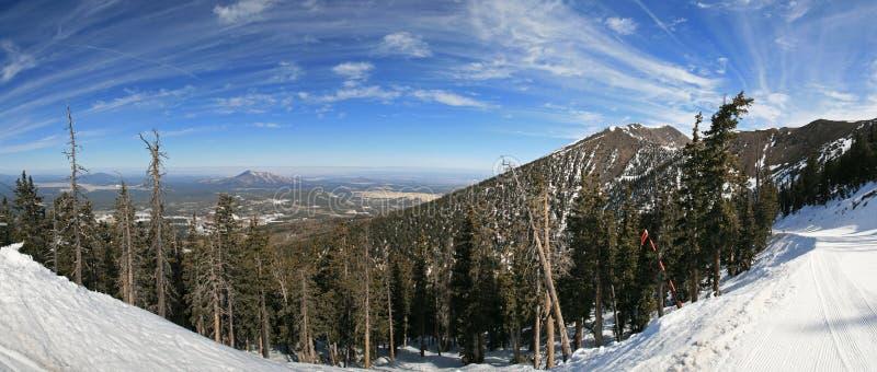 Panorama de Arizona Snowbowl imagen de archivo libre de regalías