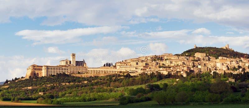 Panorama de Assisi imagens de stock