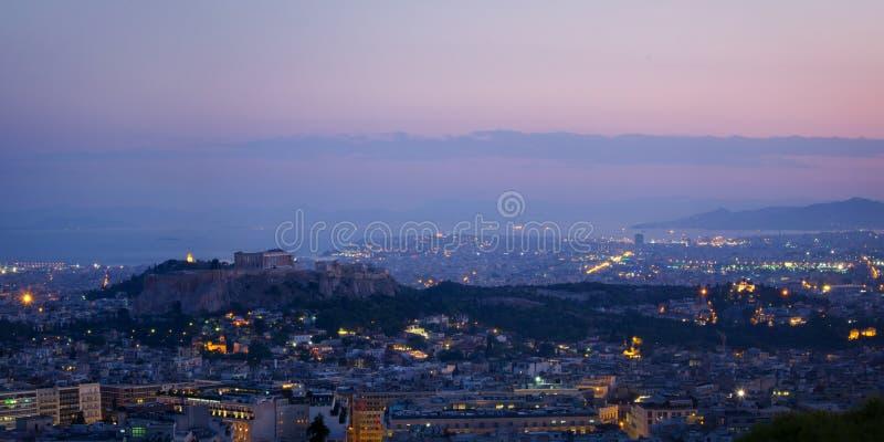 Panorama de Atenas fotografía de archivo libre de regalías