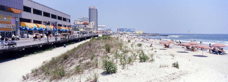 PANORAMA de Atlantic City, New Jersey fotografía de archivo libre de regalías