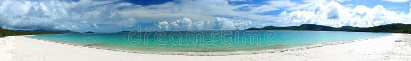 Panorama de Austrália da praia de Whitehaven imagens de stock royalty free