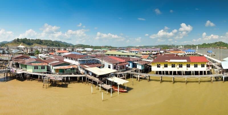 Panorama de Ayer do Kampong, Brunei Darussalam foto de stock