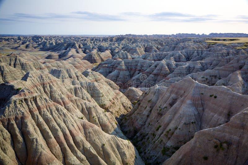 Panorama de bad-lands photos stock