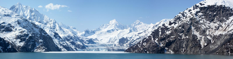 Panorama de baie de glacier image libre de droits