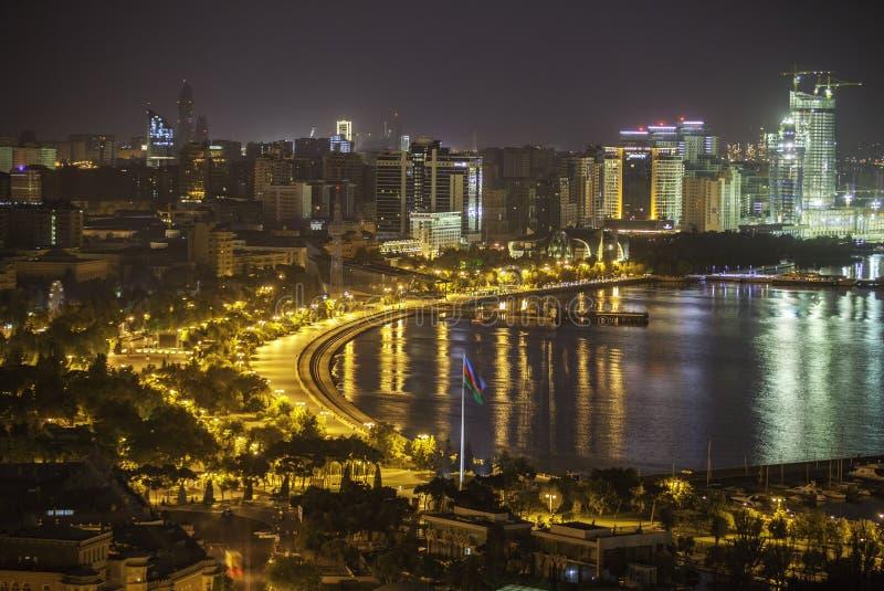 Panorama de Bakou avec Highland Park photographie stock libre de droits