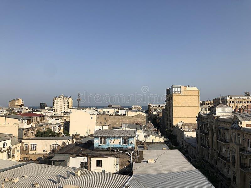 Panorama de Bakou images stock