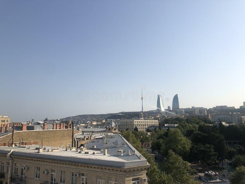 Panorama de Bakou images libres de droits