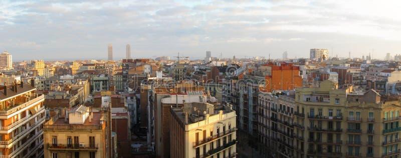 Panorama de Barcelona imagens de stock royalty free
