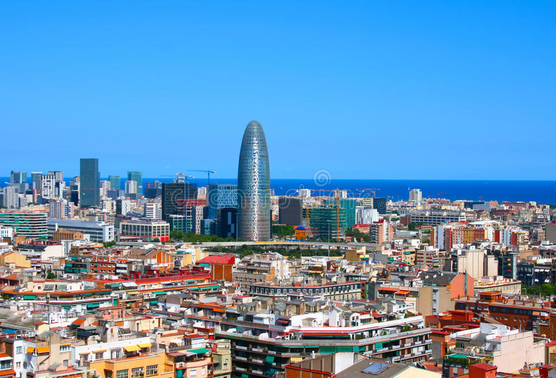 Panorama de Barcelone, Espagne photos libres de droits