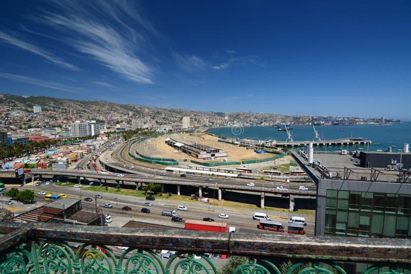 Panorama de baron de mirador valparaiso chile images libres de droits