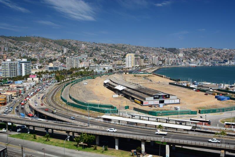 Panorama de baron de mirador valparaiso chile photographie stock
