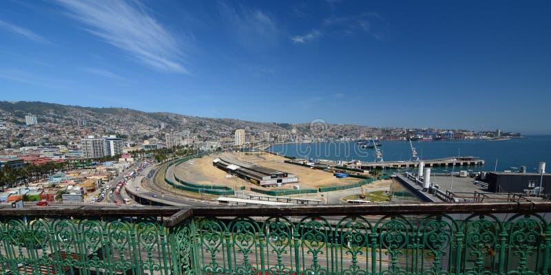 Panorama de baron de mirador valparaiso chile photos libres de droits