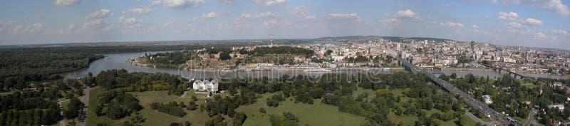 Panorama de Belgrade photos libres de droits