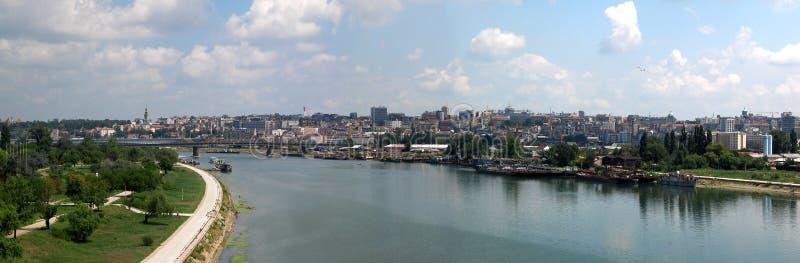 Panorama de Belgrado imagen de archivo libre de regalías