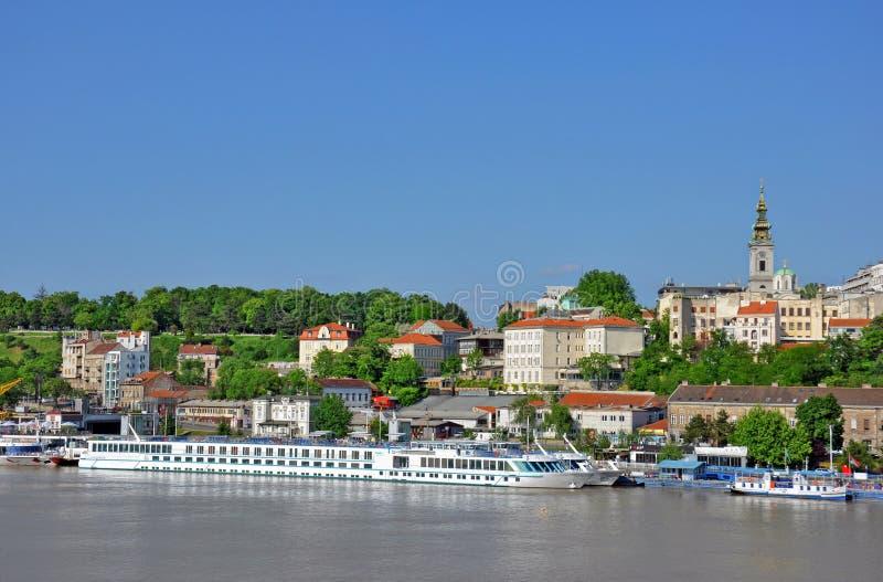 Panorama de Belgrado foto de stock royalty free
