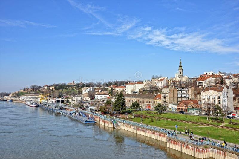 Panorama de Belgrado fotografía de archivo