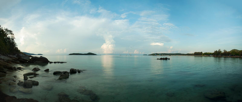 Panorama de belle composition de paysage marin de paysage de nature dedans photographie stock
