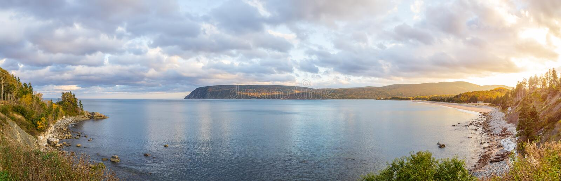 Panorama de belle vue d'automne photo stock