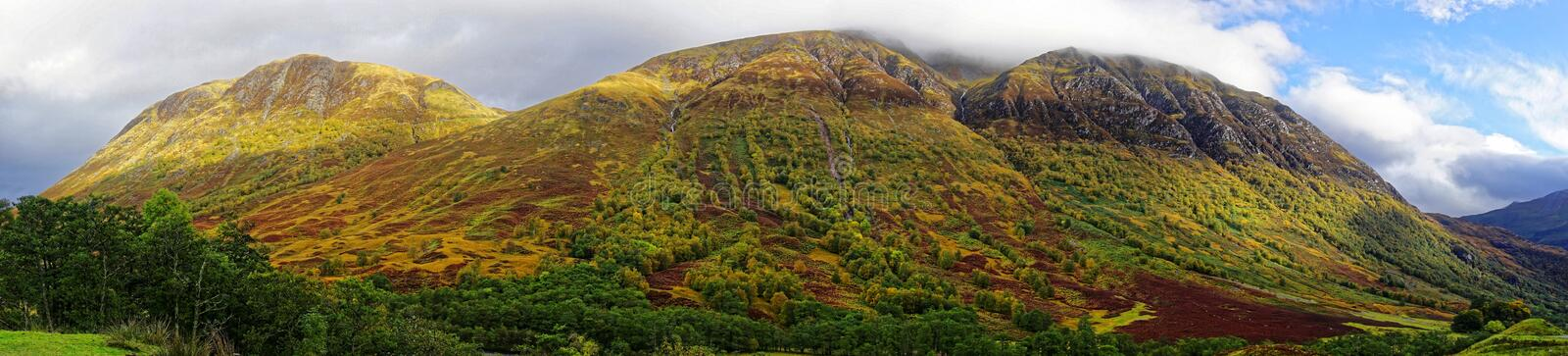 Panorama de Ben Nevis Range photo stock