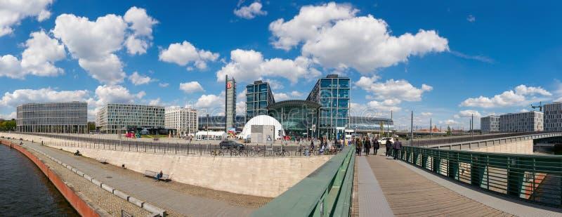 Panorama de Berlin Central Station photo libre de droits