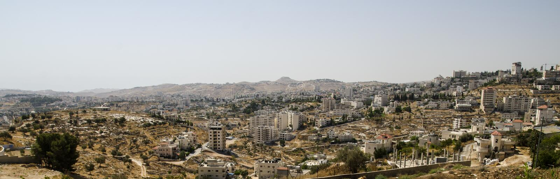 Panorama de Bethlehem com monte de Herodium fotografia de stock royalty free