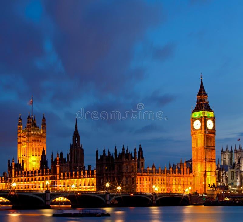 Panorama de Big Ben royalty-vrije stock afbeelding