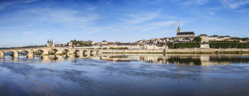 Panorama de Blois, Loire Valley França imagem de stock