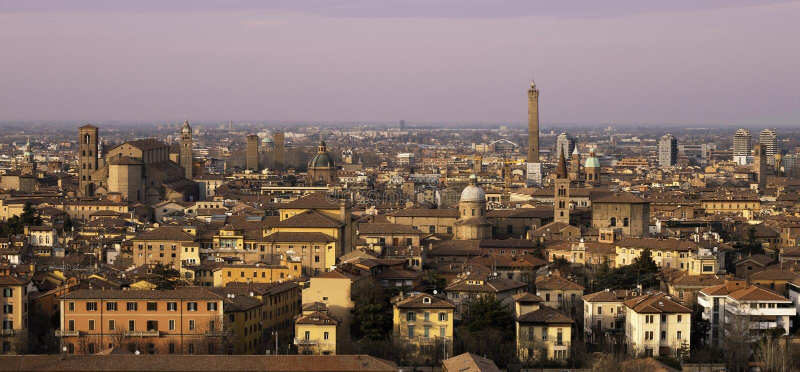 Panorama de Bolonia fotografía de archivo