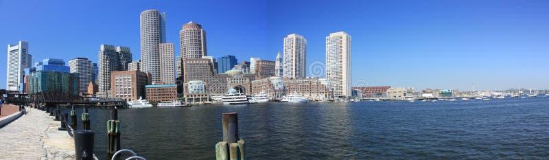 Panorama de bord de mer de Boston images stock