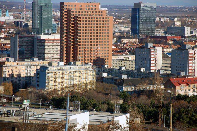 Panorama de Bratislava fotografia de stock royalty free