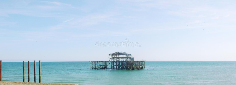Panorama de Brighton West Pier photos libres de droits