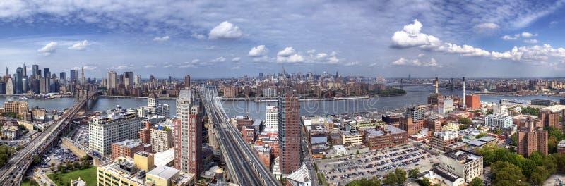 Panorama de Brooklyn, de Manhattan y de reinas imágenes de archivo libres de regalías