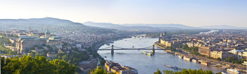 Panorama de Budapest fotos de archivo libres de regalías