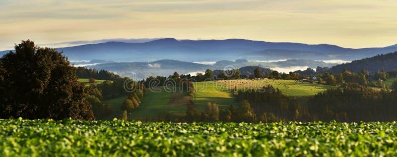 Panorama de Buetiful en República Checa fotos de archivo