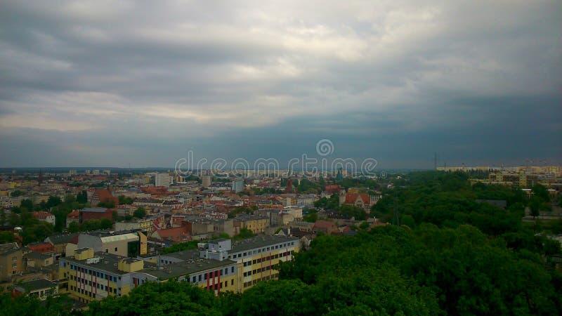 Panorama de Bydgoszcz images libres de droits