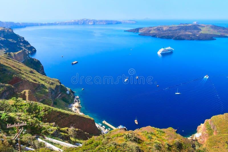 Panorama de caldeira en île de Santorini, Grèce photo libre de droits