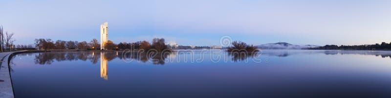 Panorama de Canberra, Australie images stock
